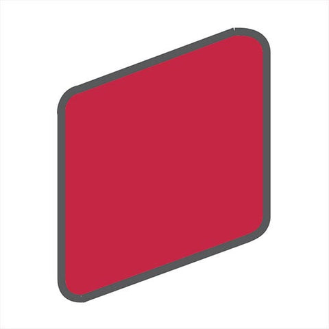 American Olean Bright 2 x 2 Ruby Red Wall Surface Bullnose Outcorner