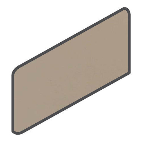 Daltile Modern Dimensions 4-1/4 x 8-1/2 Uptown Taupe Wall Bullnose Corner Right