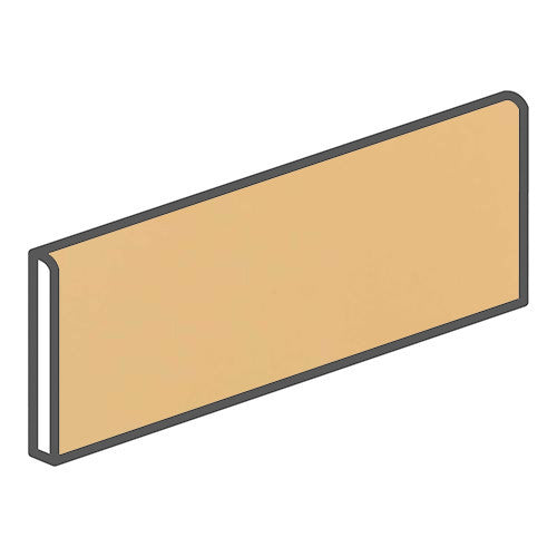"Daltile Modern Dimensions 4-1/4 x 12-3/4 Luminary Gold Surface Bullnose - 12"" Side - American Fast Floors"