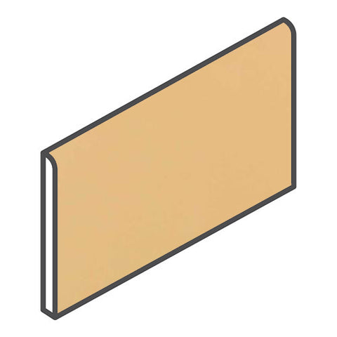 "Daltile Modern Dimensions 4-1/4 x 8-1/2 Luminary Gold Bullnose (8-1/2"" Side)"