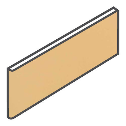 "Daltile Modern Dimensions 4-1/4 x 12-3/4 Luminary Gold Surface Bullnose - 4-1/4"" Side"