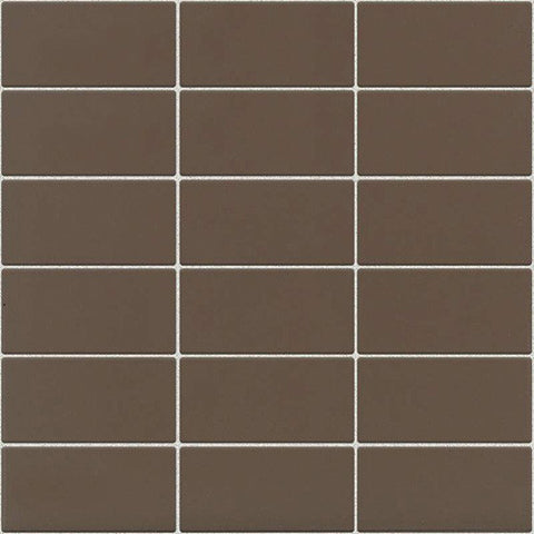 Daltile Modern Dimensions Gloss Artisan Brown 2 x 4 Straight-Joint Mosaic