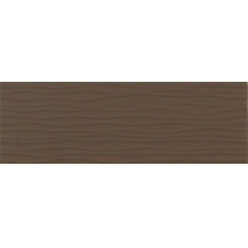 Daltile Modern Dimensions 4-1/4 x 12-3/4 Gloss Artisan Brown Wave Accent - American Fast Floors