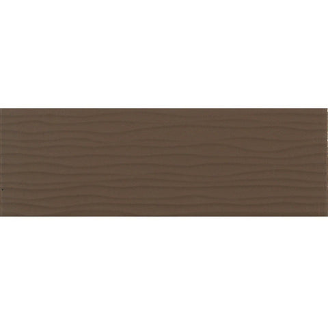 Daltile Modern Dimensions 4-1/4 x 12-3/4 Gloss Artisan Brown Wave Accent