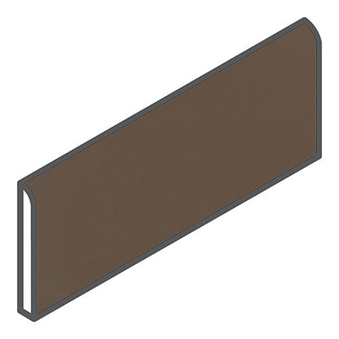 "Daltile Modern Dimensions 2-1/8 x 8-1/2 Gloss Artisan Brown Bullnose - 8-1/2"" Side"
