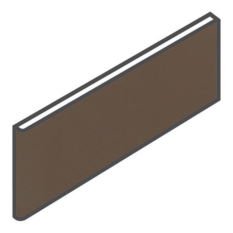 "Daltile Modern Dimensions 4-1/4 x 12-3/4 Gloss Artisan Brown Surface Bullnose - 4-1/4"" Side"