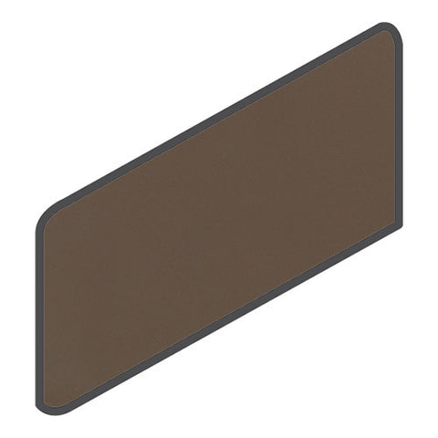 Daltile Modern Dimensions 4-1/4 x 8-1/2 Gloss Artisan Brown Wall Bullnose Corner Right