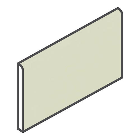 "Daltile Modern Dimensions 4-1/4 x 8-1/2 Mint Ice Bullnose (8-1/2"" Side)"