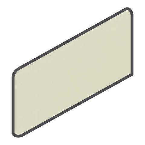 Daltile Modern Dimensions 4-1/4 x 8-1/2 Mint Ice Wall Bullnose Corner Right