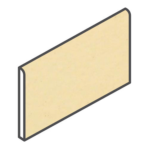 "Daltile Modern Dimensions 4-1/4 x 8-1/2 Corn Silk Wall Bullnose - 4-1/4"" Side"