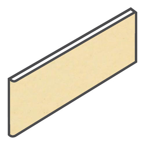 "Daltile Modern Dimensions 4-1/4 x 12-3/4 Corn Silk Surface Bullnose - 4-1/4"" Side"