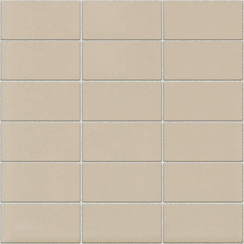 Daltile Modern Dimensions Gloss Urban Putty 2 x 4 Straight-Joint Mosaic - American Fast Floors