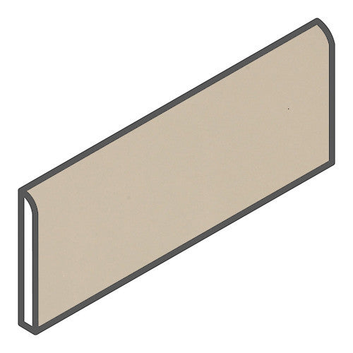 "Daltile Modern Dimensions 2-1/8 x 8-1/2 Gloss Urban Putty Bullnose - 8-1/2"" Side - American Fast Floors"