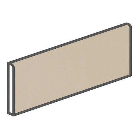 "Daltile Modern Dimensions 4-1/4 x 12-3/4 Gloss Urban Putty Surface Bullnose - 12"" Side"