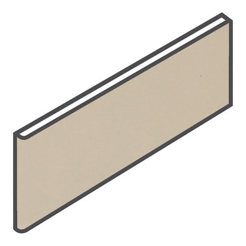 "Daltile Modern Dimensions 4-1/4 x 12-3/4 Gloss Urban Putty Surface Bullnose - 4-1/4"" Side"