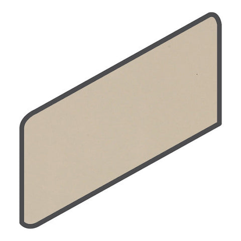 Daltile Modern Dimensions 4-1/4 x 8-1/2 Gloss Urban Putty Wall Bullnose Corner Right - American Fast Floors