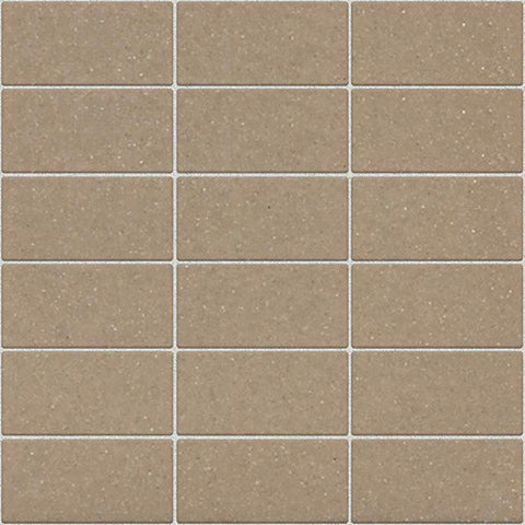 Daltile Modern Dimensions Gloss Elemental Tan 2 x 4 Straight-Joint Mosaic