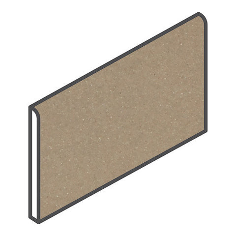 "Daltile Modern Dimensions 4-1/4 x 8-1/2 Gloss Elemental Tan Bullnose (8-1/2"" Side)"