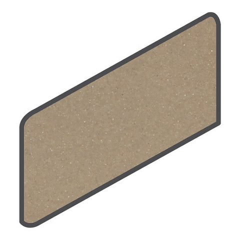 Daltile Modern Dimensions 4-1/4 x 8-1/2 Gloss Elemental Tan Wall Bullnose Corner Right