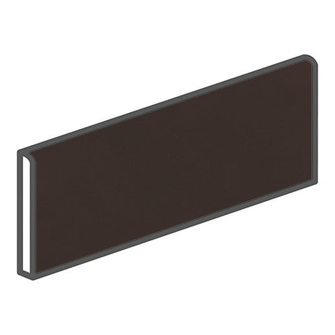 Daltile Modern Dimensions 4-1/4 x 12-3/4 Matte Black Bullnose Corner Right