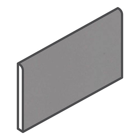 "Daltile Modern Dimensions 4-1/4 x 8-1/2 Suede Grey Wall Bullnose - 4-1/4"" Side"