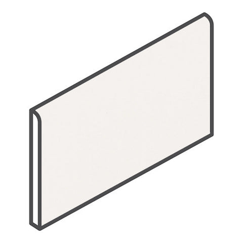 "Daltile Modern Dimensions 4-1/4 x 8-1/2 Gloss Arctic White Wall Bullnose - 4-1/4"" Side"