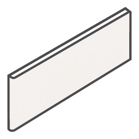 "Daltile Modern Dimensions 4-1/4 x 12-3/4 Gloss Arctic White Surface Bullnose - 4-1/4"" Side"