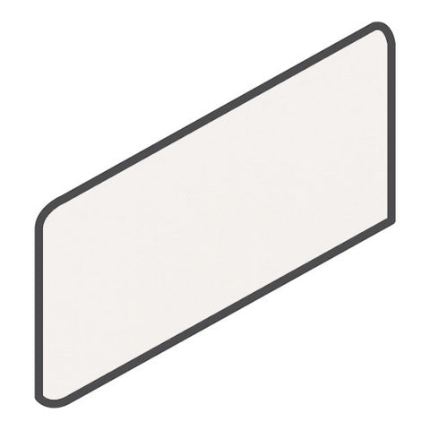 Daltile Modern Dimensions 4-1/4 x 8-1/2 Gloss Arctic White Wall Bullnose Corner Right