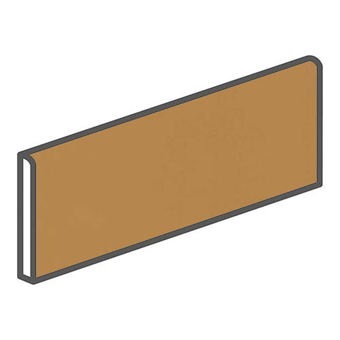 "Daltile Modern Dimensions 4-1/4 x 12-3/4 Gold Coast Surface Bullnose - 12"" Side"