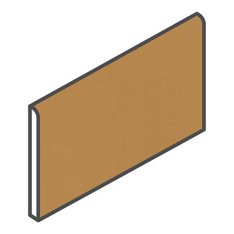 "Daltile Modern Dimensions 4-1/4 x 8-1/2 Gold Coast Bullnose (8-1/2"" Side)"