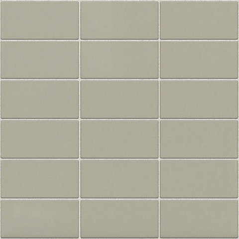 Daltile Modern Dimensions Matte Architectural Gray 2 x 4 Straight-Joint Mosaic