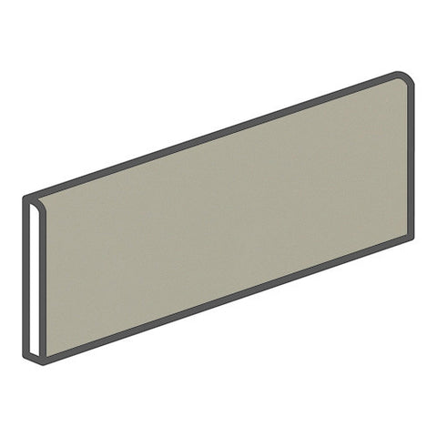 "Daltile Modern Dimensions 4-1/4 x 12-3/4 Matte Architectural Gray Surface Bullnose - 12"" Side"