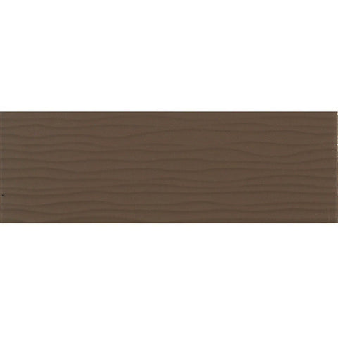 Daltile Modern Dimensions 4-1/4 x 12-3/4 Matte Artisan Brown Wave Accent