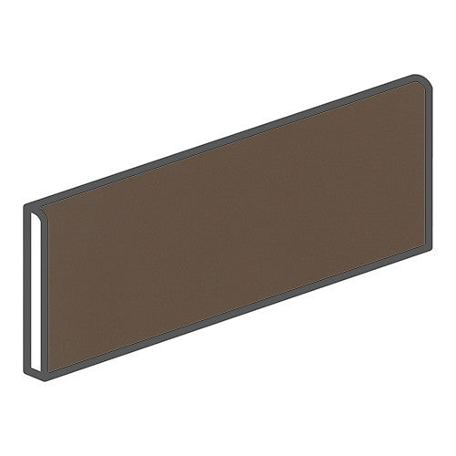 "Daltile Modern Dimensions 4-1/4 x 12-3/4 Matte Artisan Brown Surface Bullnose - 12"" Side - American Fast Floors"