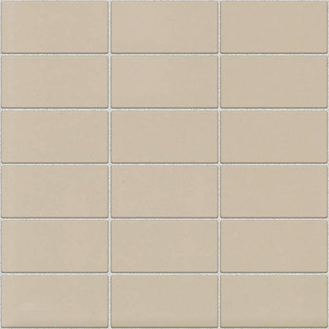 Daltile Modern Dimensions Matte Urban Putty 2 x 4 Straight-Joint Mosaic