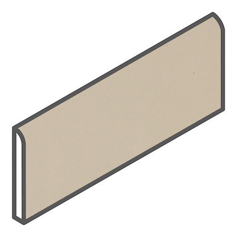 "Daltile Modern Dimensions 2-1/8 x 8-1/2 Matte Urban Putty Bullnose - 8-1/2"" Side"