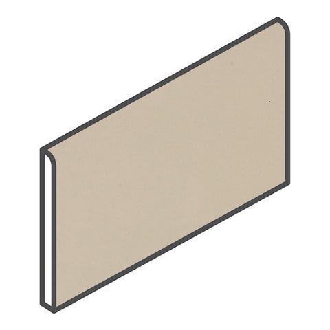 "Daltile Modern Dimensions 4-1/4 x 8-1/2 Matte Urban Putty Wall Bullnose - 4-1/4"" Side"