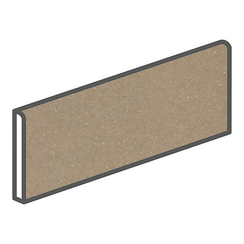 Daltile Modern Dimensions 4-1/4 x 12-3/4 Gloss Elemental Tan Bullnose Corner Right