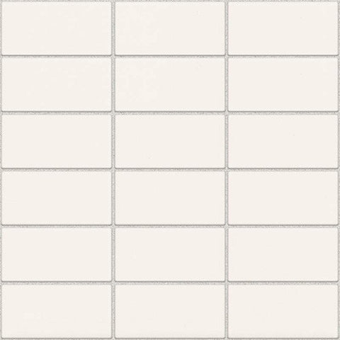 Daltile Modern Dimensions Matte Arctic White 2 x 4 Straight-Joint Mosaic