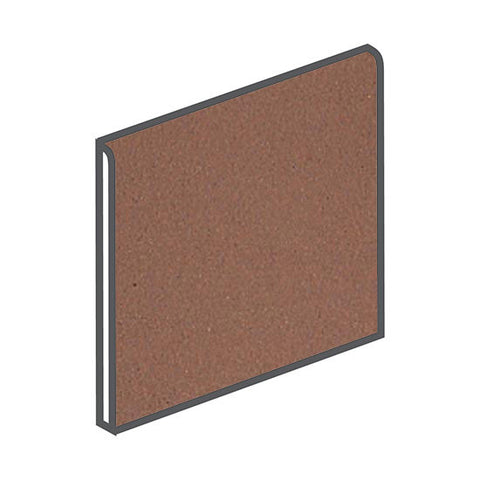 American Olean Quarry Naturals 8 x 8 Lava Red Bullnose - American Fast Floors