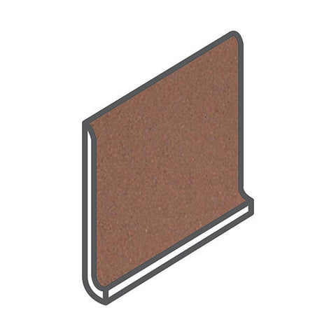 American Olean Quarry Naturals 5 x 6 Lava Red Cove Base Round Top - American Fast Floors