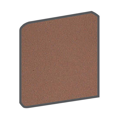 American Olean Quarry Naturals 8 x 8 Lava Red Bullnose Outcorner