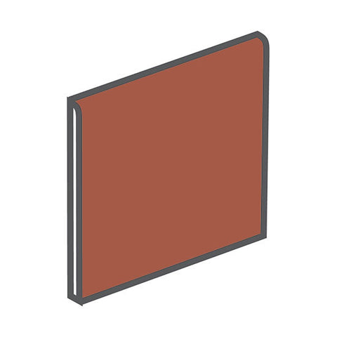 American Olean Quarry Tile 6 x 6 Canyon Red Bullnose - American Fast Floors