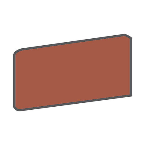 American Olean Quarry Tile 4 x 8 Canyon Red Bullnose Outcorner - American Fast Floors