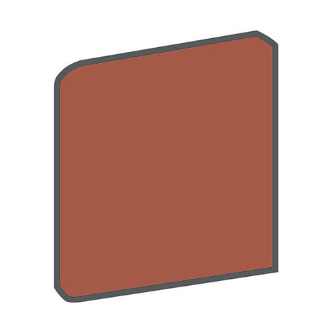 American Olean Quarry Tile 6 x 6 Canyon Red Bullnose Outcorner