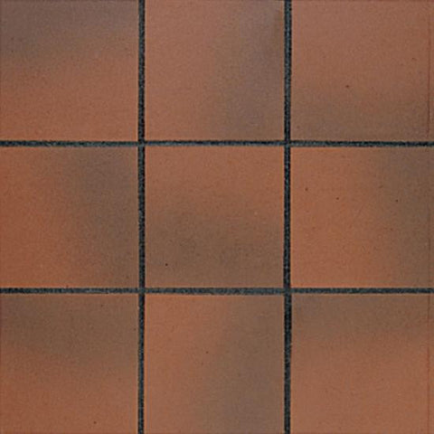 American Olean Quarry Tile 6 x 6 Ember Flash Abrasive Field Tile