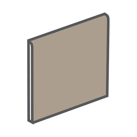 American Olean Quarry Tile 6 x 6 Fawn Gray Bullnose - American Fast Floors