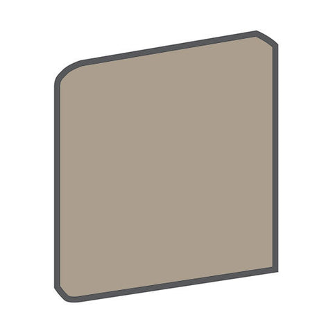 American Olean Quarry Tile 6 x 6 Fawn Gray Bullnose Outcorner - American Fast Floors