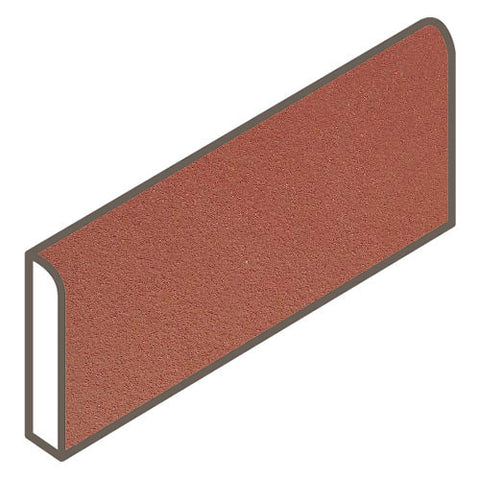 Daltile Quarry Tile 4 x 8 Red Blaze Abrasive Bullnose