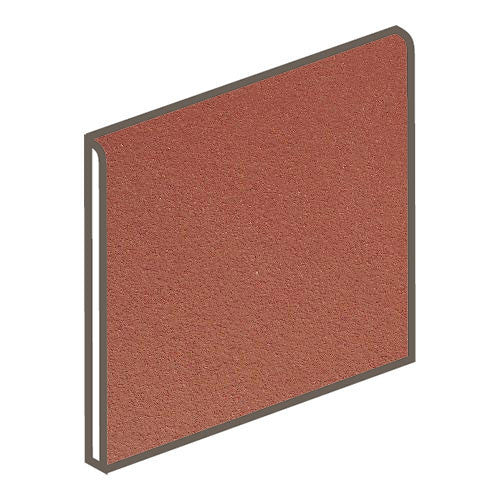 Daltile Quarry Tile 6 x 6 Red Blaze Abrasive Bullnose - American Fast Floors